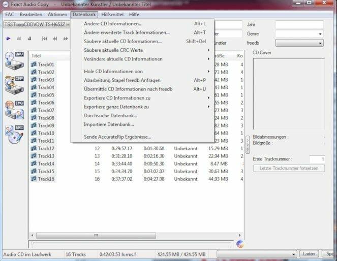 Audio Programme Exact Audio Copy